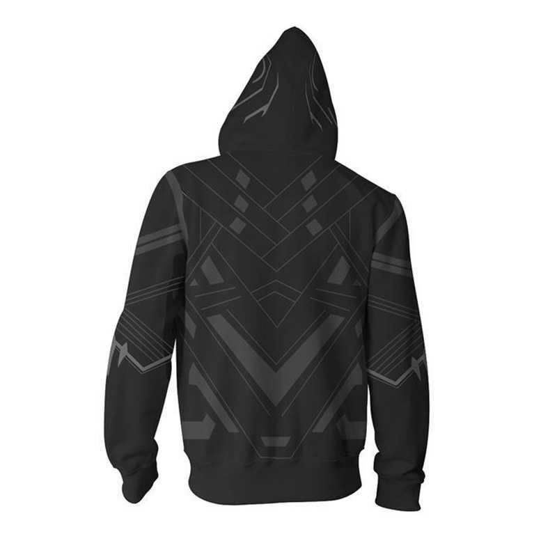Dropshipping Superhero Schwarz Panther 3D Druck Kapuze Mantel Unisex Hoodies Sweatshirt Frühling Langarm Reißverschluss Jacke Outwear