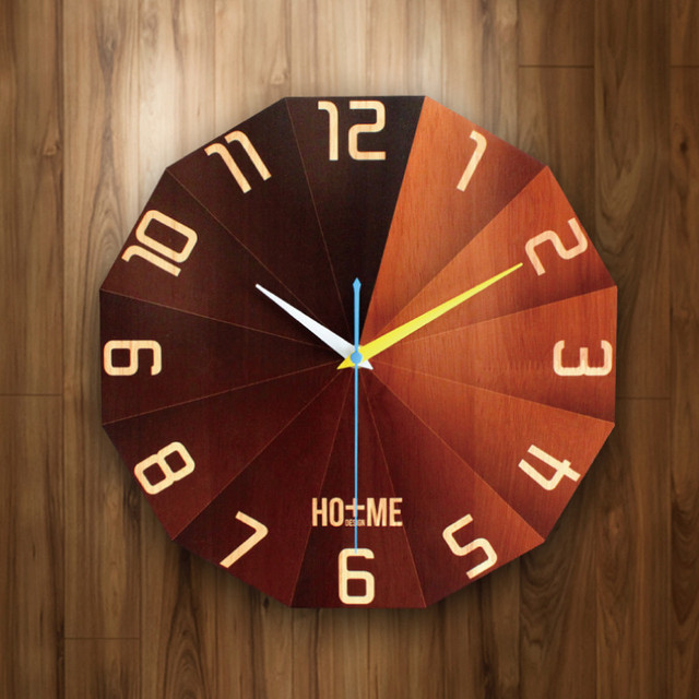PINJEAS Nordic Art Mute Wall Clocks Home Decor Bedroom/Office Mural The Living Room Needle Display Home Design Best Gifts
