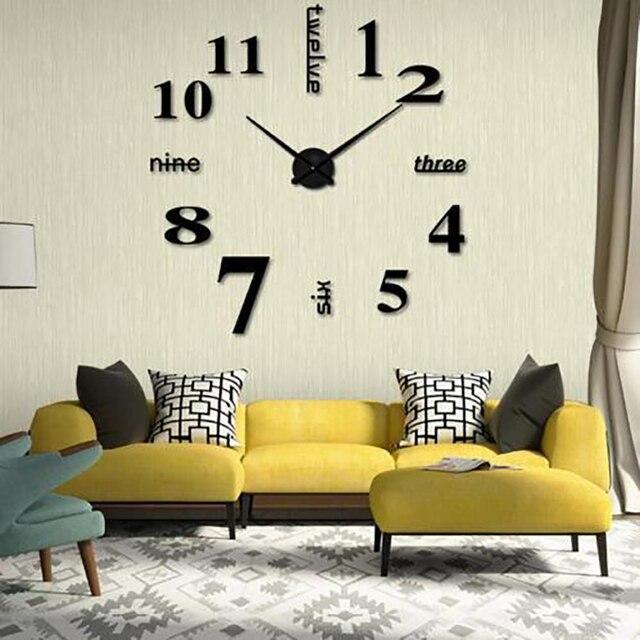 3D DIY Hängen Wand Sanfte Uhr Spiegel Dekor Für Wohnzimmer Große Kunst  Design