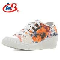 LIBANG High Quality Floral Heels Women Platform Shoes Wedges Autumn Summer Women Pumps Shoes Breathable Shoes