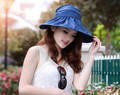2016 mujeres del verano de ala ancha playa sol sombrero Chapeu moda Feminino plegable Cap