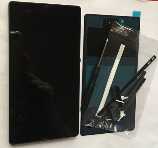 imágenes para Para Sony Xperia Z C6603 C6602 L36h LCD Pantalla LCD Pantalla Táctil Del Digitizador Assembly + back housing + plug + adhesivo + herramientas