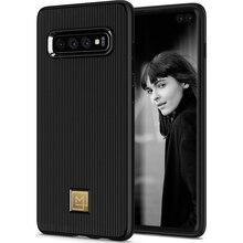 SPIGEN La Manon стильный черный гибкий ТПУ мягкий чехол для samsung Galaxy S10/Galaxy S10 Plus/S10+/S10E