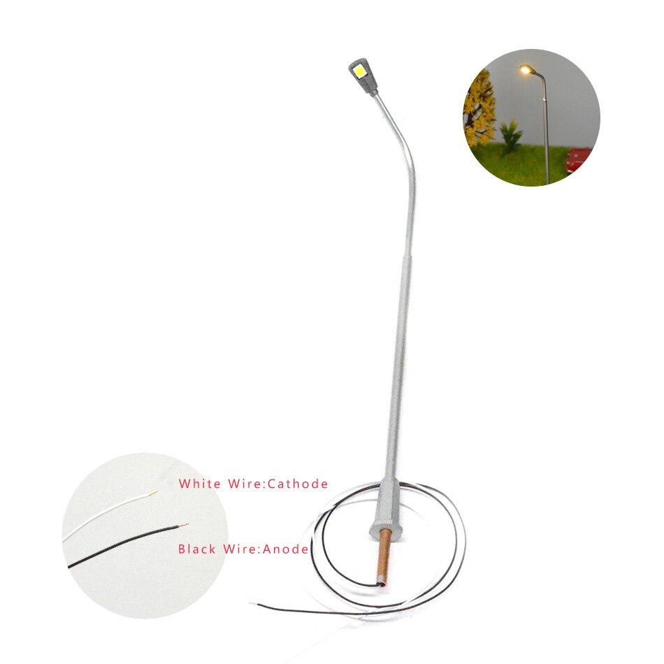 Teraysun hurtownie 1:100 architektoniczne podświetlany latarni ulicy światła miedzi model w skali do pociągu układ kolejowy w Zestawy modelarskie od Zabawki i hobby na  Grupa 2