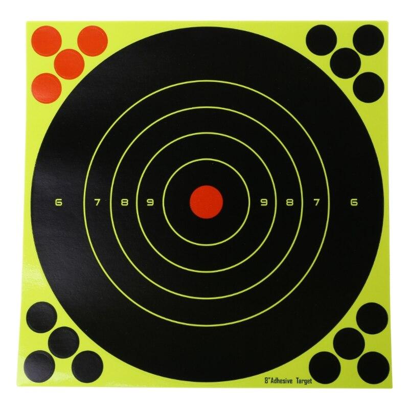 10pcs Adhesive Target Shooting Sticker Fluorescent Splash Flower 8x8'' Objective