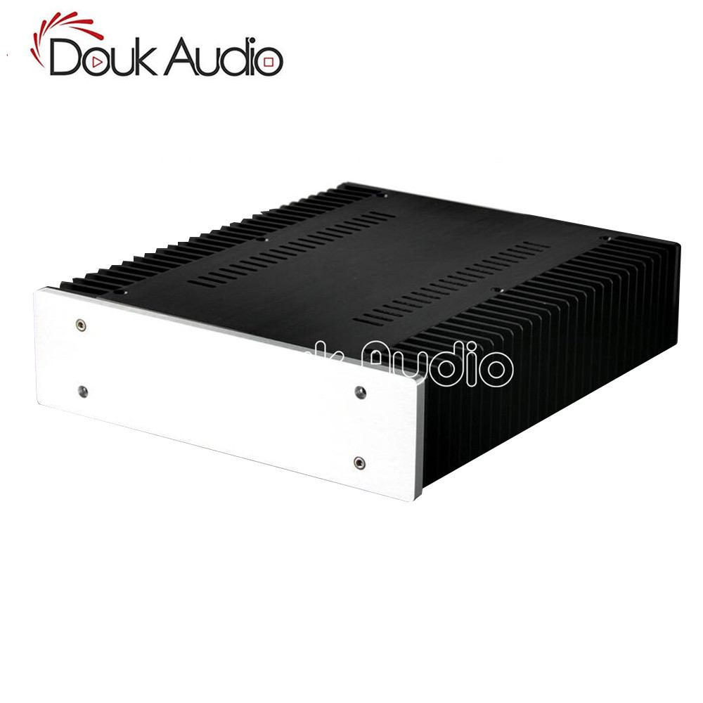 Douk Audio DIY Full Aluminum Power Amplifier Chassis Blank Panel Case New Enclosure PSU Box 4312 blank full aluminum enclosure power amplifier box psu chassis preamp case