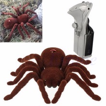 New Scary Remote Control Creepy Soft Plush Spider Infrared RC Tarantula Toy Kid Gift rc scolopendra infrared remote control centipede toy