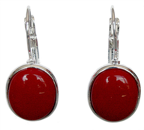 Noble ladys hand 925 silver red coral earrings sleepers Natural stone 925 Sterling Silver wedding jewelry earrings