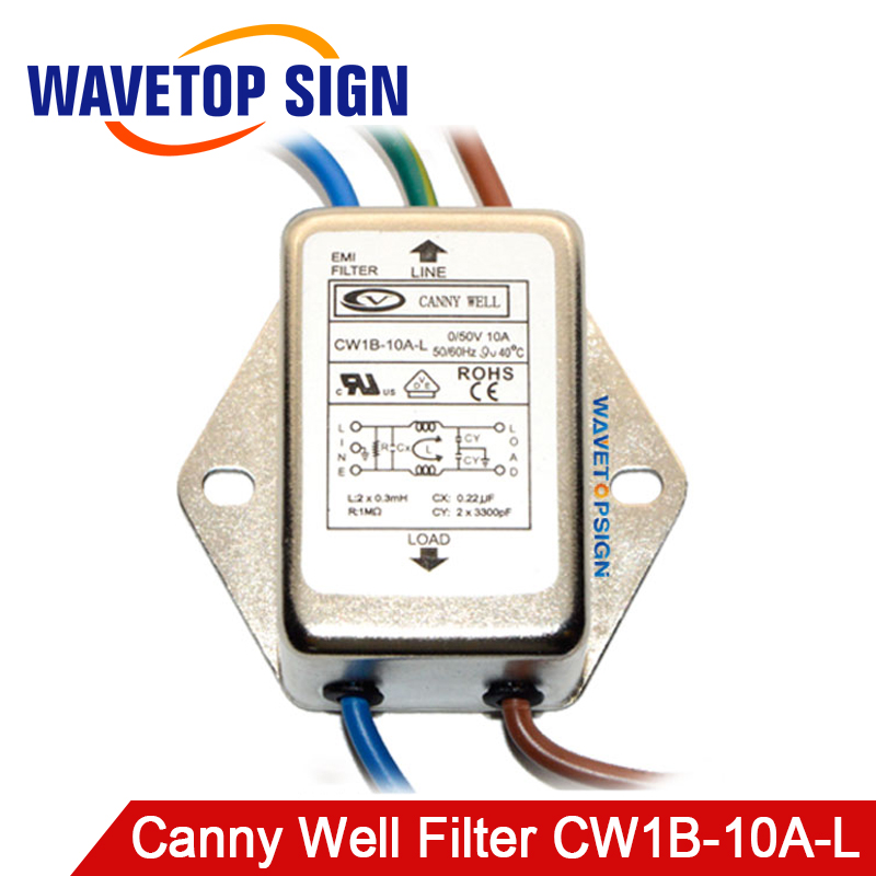 Canny Well Filter  CW1B-10A-L CANNY WELL 0-50V DC Power Supply Filter  1A  3A  10A  Laser Machine Use 10A