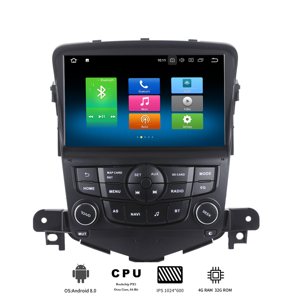 1 Din Android 8.0 Auto Multimedia Speler Voor Chevrolet Cruze 2008 2009 2010 2011 2012 Auto Radio Gps Navi Met 8-core 4 Gb + 32 Gb Perfect In Vakmanschap