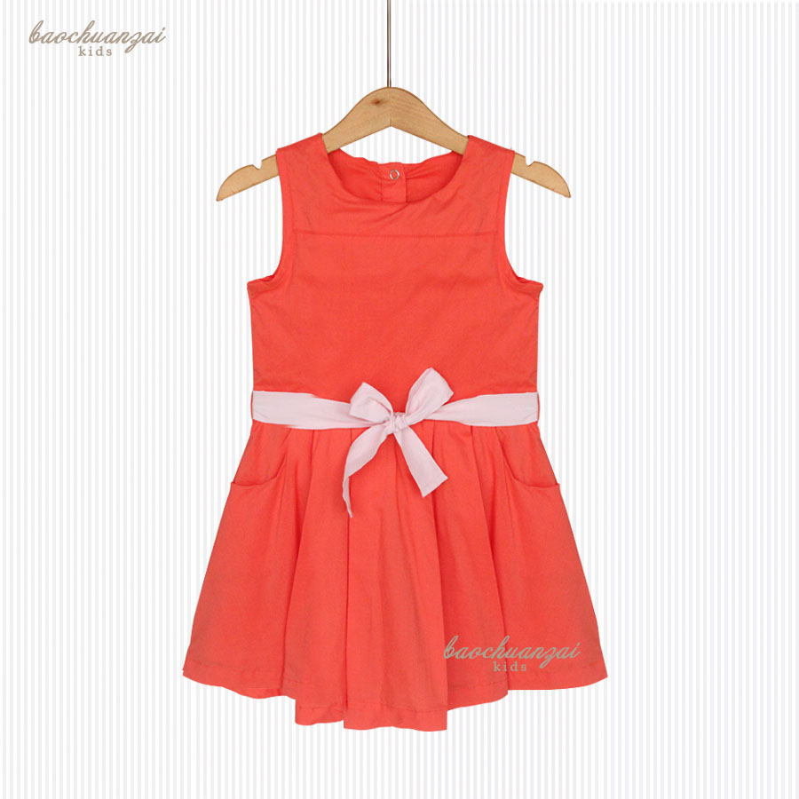 Princess Dress Vestido Infantil 2017 Summer Girls Party Dress Children bowknot  Dresses Kids Clothes summer girls florwer dresses new design 2016 casual cotton sleeveless kids clothes lovely party vest dress infantil vestido hot