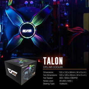Image 4 - darkFlash CPU Cooler Radiator TDP 120W Heatsink Silent RGB PC Case Fan 120mm 4Pin CPU Cooling for LGA1151/1155/1156/1366/AM3/AM4