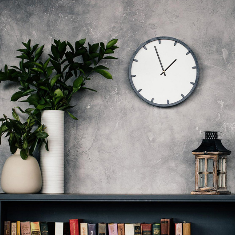 Round Wall Clock Simple Decorative Creative Nordic Modern Wood Clock Wall Clock For Living Room Kitchen Office Bedroom