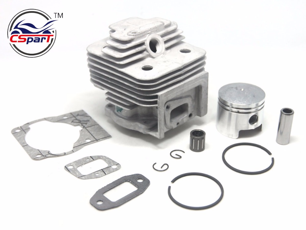 44mm 10mm 52CC 44F-5 engine brush cutter cylinder block piston KITS with gasket 10 set carburetor repair kits with primer bulb needle for brush cutter cg260 cg330 cg430 cg520 gx35 40 5 43cc 52cc