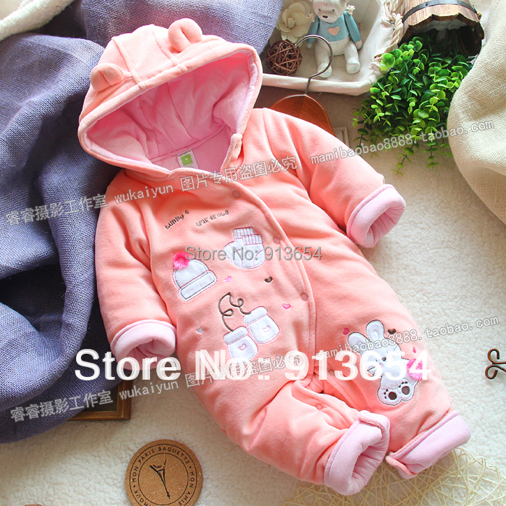 new 2016 autumn winter romper newborn baby clothes  kids cotton rompers baby girl animal Coveralls warm jumpsuits baby products new 2016 autumn winter kids jumpsuits newborn baby clothes infant hooded cotton rompers baby boys striped monkey coveralls
