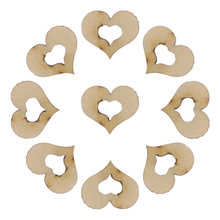 100pcs Blank Hollow Wooden Heart Embellishments Crafts Wedding Birthday Party Decoration(China)