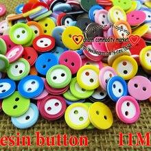 100 шт 11 мм окрашенная Смола 2 отверстия дети кнопки смолы пальто сапоги швейная одежда аксессуары бренд кнопка R-132a