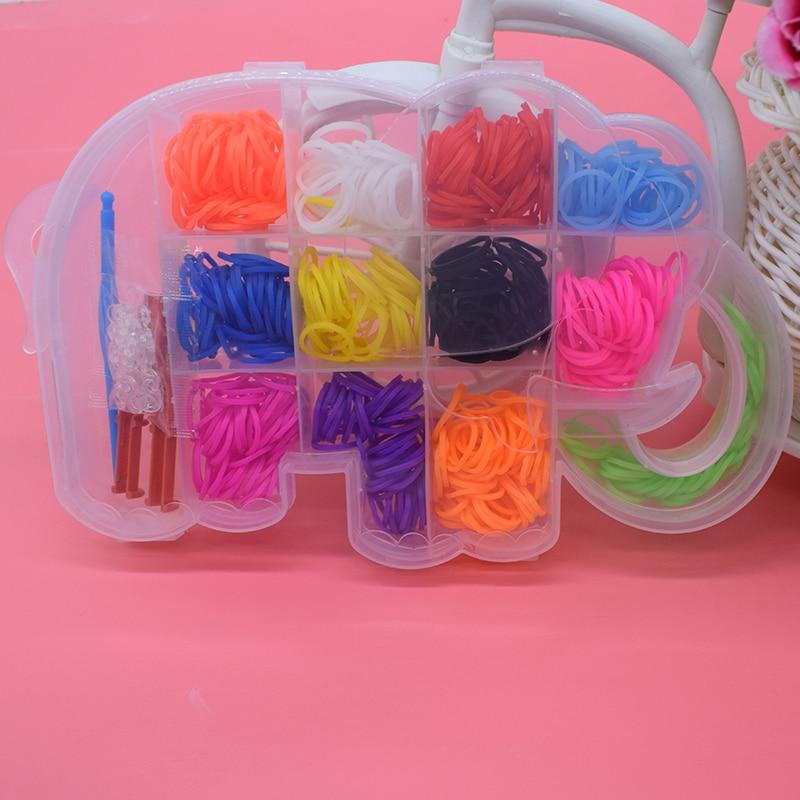 600pcs Rubber Bands Bracelets Loom Children Toys Girl Gift Hair Band Colorful Gum Make Woven Bracelet Kids Diy Toy Dropshipping