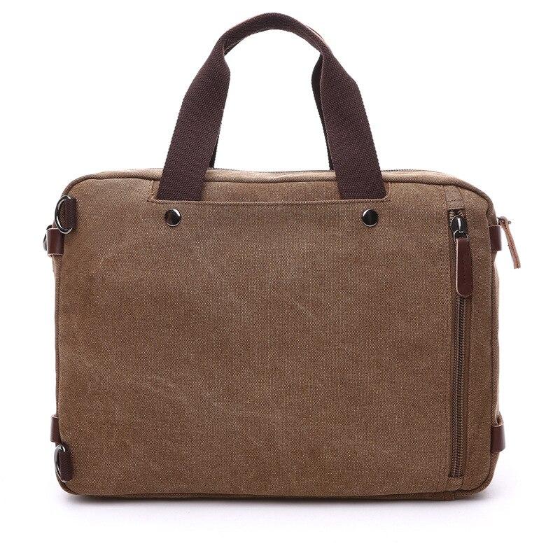 Hommes sacs à main ordinateur portable sacs à bandoulière hommes Messenger sac toile grande capacité Bolsa Masculina Vintage sacs de voyage femmes - 5