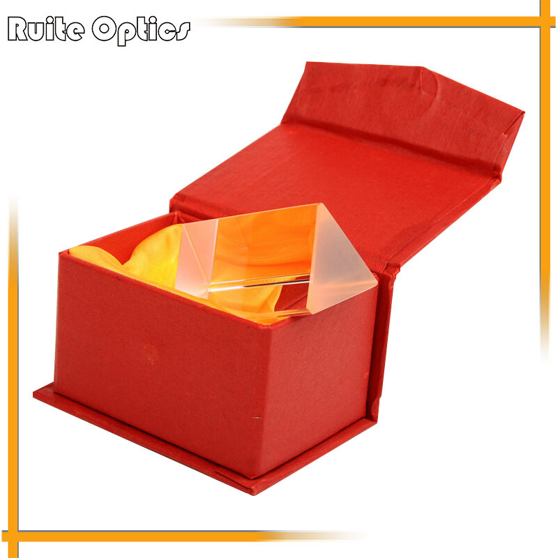 50mm Vagarious Physics Optical Prism for Physics Teaching Glass with Gift Box