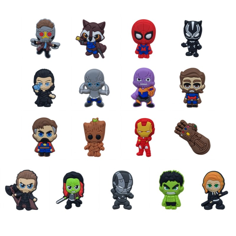 17pcs/lot Avenger Infinity War Cartoon PVC Magnetic Fridge Magnets Whiteboard Refrigerator Sticker Kids Toys Gift Home Decor