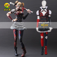 Batman Harley Quinn Halloween Cosplay Costume for Women Suicide Squad Harley Halloween Party Dress Suit custom