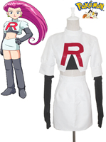 Free Shipping Pocket Monster Team Rocket Jesse Anime Cosplay Costumes