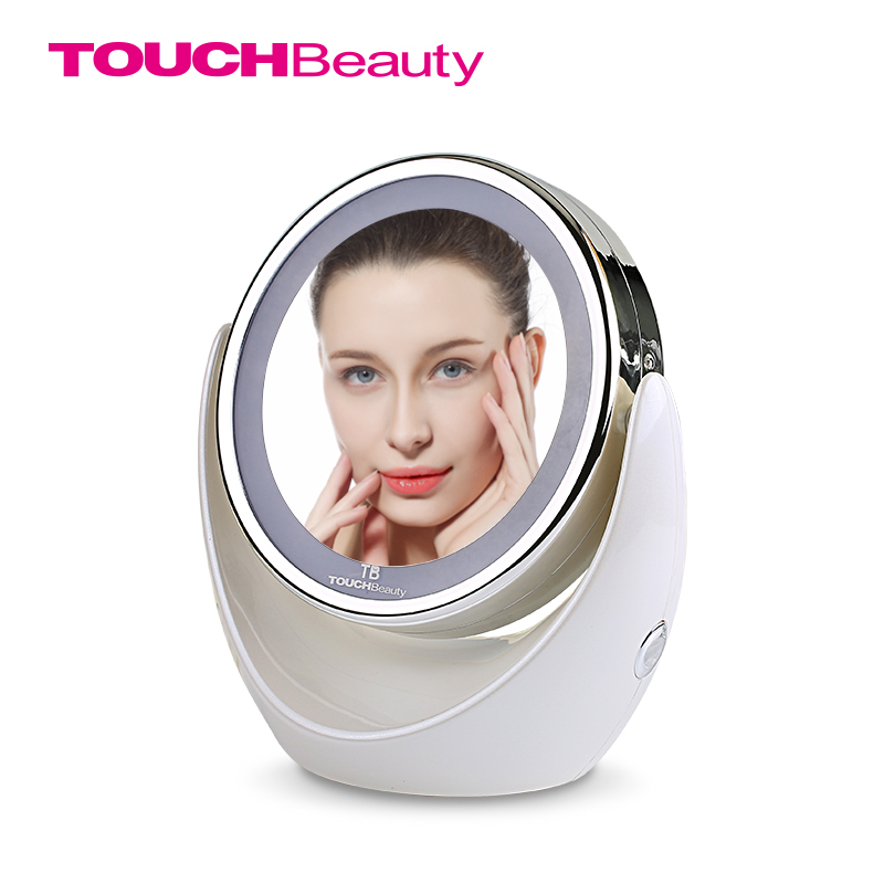 TOUCHBeauty Led Light Makeup Mirror, 360 Rotary Excellent Illumination Dual-side 1x and 5x High Clear Cosmetic Mirror TB-0678 зеркало косметическое touchbeauty as 0678