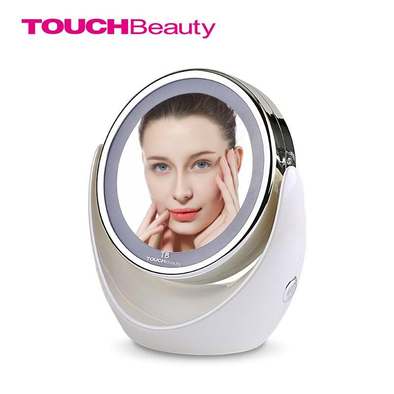 TOUCHBeauty Led Makeup <font><b>Mirror</b></font> 360 Rotary Excellent Illumination 1x 5x High Clear Cosmetic <font><b>Mirror</b></font> TB-0678