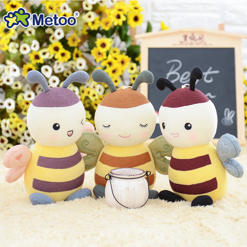 7.5 Inch Kawaii Plush Stuffed Animal Cartoon Kids Toys for Girls Children Baby Birthday Christmas Gift Little Bee Metoo Doll stuffed animal 44 cm plush standing cow toy simulation dairy cattle doll great gift w501