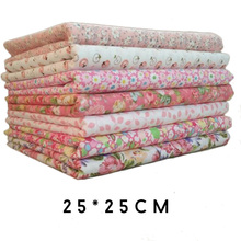 Hoomall 7PCs Mixed Cotton Fabric For Patchwork DIY Handmade Sewing Home Decor Material Cheap Fabric Accessories 25x25cm(China)