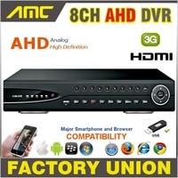 2015 AHD 8CH CCTV DVR Recorder 720P Real Time Digital Video Recorder H 264 Hybrid NVR