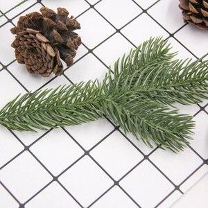 Image 5 - 1 חבילה מלאכותי פרח מזויף צמחי ענפי אורן עץ חג המולד מסיבת חג המולד קישוטי חג המולד עץ קישוטי ילדים מתנה