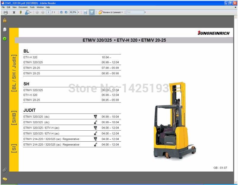 Jungheinrich Repair Information Jeti SH 4.34+expire patch