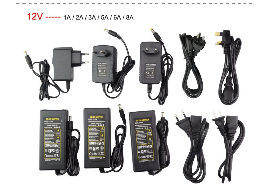 24 V LED Power Versorgung 5 volt Transformator 12 volt ladegerät AC zu DC 110 V 220 V zu 12 V 5 V 24 V 2A <font><b>3A</b></font> 5A 7A 8A 10A 12 V DC power adapter image