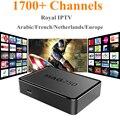 MAG250 + Royal IPTV IPTV Árabe Francés Italia REINO UNIDO Europa IPTV Linux OS Set Top Box Procesador STi7105 MAG 250 1700 Canales de Tv Box