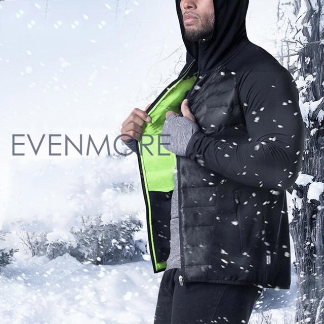 b9bbce7bd39 Jacket Coat Men Winter Autumn Running Gym Sport Coat Plus Size Fitness Warm  Down Jackets Hoodies Boys Gym Jogging Male Jacket