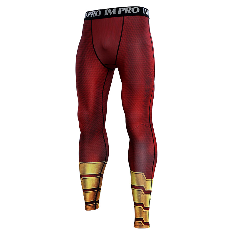 Trousers Male Leggings Compression-Tights-Pants Skinny Printed-Pattern Cloth Fitness