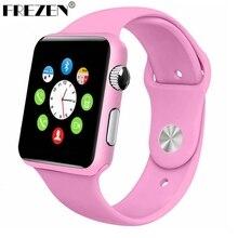 FREZEN G10A Pintura Rosa Bluetooth Reloj Inteligente Reloj de Pulsera Para Las Mujeres Adultas respuesta de Llamada DZ09 Reloj Con Tarjeta SIM Para Android PK GT08