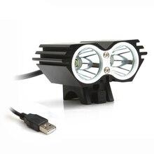 Luz de la bicicleta X2 CREE XM-L T6 5000 lúmenes impermeable jefe Led lámpara de luz luces de bicicleta USB lámpara ligera principal ( no incluyendo la batería )