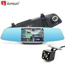 """Junsun 5 """"Espejo Retrovisor Del Coche DVR Grabador de Vídeo con dos cámaras IPS Full HD 1080 P LDWS ADAS Aparcamiento monitor Dash Cam registrador"""
