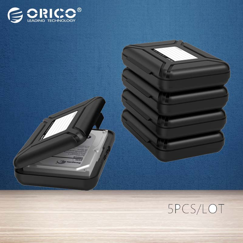 ORICO PHX-5S-GY 5 Bay Simple HDD Protector Box for 3.5 Hard Drive(HDD)  with Waterproof Function- 5PCS/LOT-Gray orico phx 35 3 5 hdd protection box hard disk drive protecter case purpled