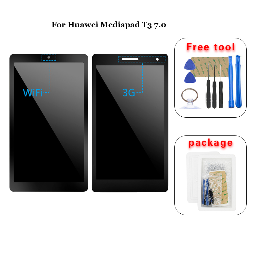 עבור Huawei Mediapad T3 7.0 BG2-W09 BG2-U01 BG2-U03 Lcd תצוגת מסך מגע Digitizer עצרת title=