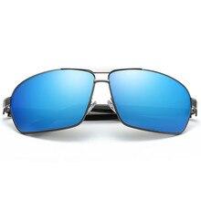 Hombres gafas de Sol de Marco de Aleación de Metal de Alta Calidad Ronda Polarizado UV400 Espejo Gafas Gafas Gafas de Sol Masculino Gafas de Verano