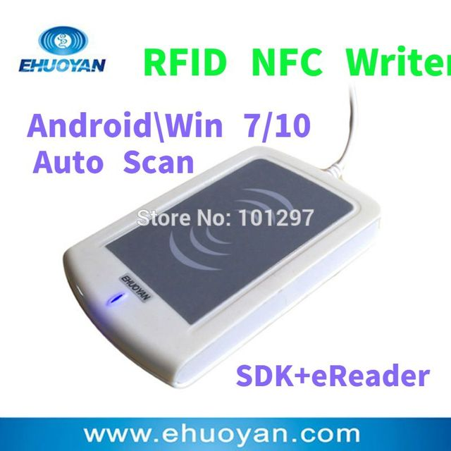 US $28 0 |Rfid NFC Reader Writer 13 56MHZ USB ER302 Android +Auto Scan+  SDK+Software eReader +2 Tags-in Control Card Readers from Security &
