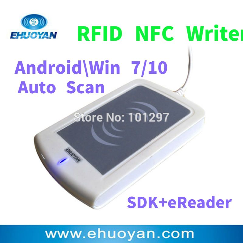 Rfid NFC Reader Writer 13.56MHZ USB ER302 Android +Auto Scan+ SDK+Software eReader +3 Tags
