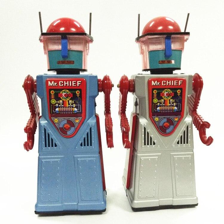 골동품 스타일 틴 장난감 완구 로봇을 바람 어린이/성인 홈 장식 공예 tr2054 드레스에 대한 철 금속 모델 미스터 수석-에서와인드업 장난감부터 완구 & 취미 의  그룹 1