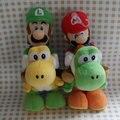 "IN HAND NEW Original Cartoon Games Super Mario Bros. Party 8 Series Plush MARIO LUIGI with yoshi 9"" 22cm Stuffed animal"