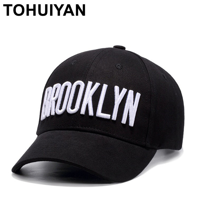 e12bf4507fb36 TOHUIYAN BROOKLYN Embroidey Baseball Cap For Men Women Hip Hop Hat Summer  Autumn Polo Dad Hats Curved Visor Snapback Caps Hats