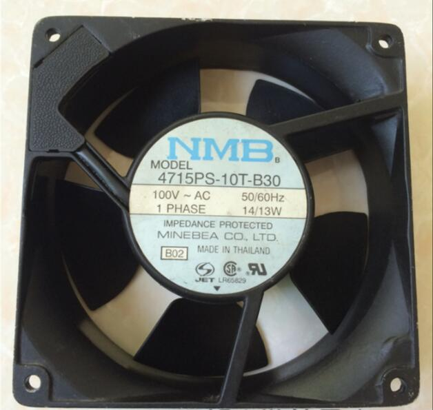 Free shipping for NMB 4715PS-10T-B30, B02 AC 100V 14/13W 50/60Hz 120x120x38mm Server Square fan виниловая пластинка mitchell joni the hissing of summer lawns